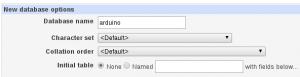 Arduino Create Database