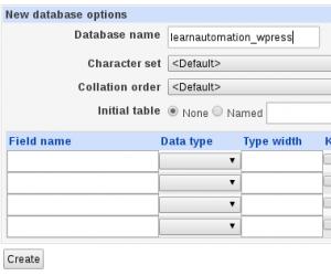 MySQL Name Creation