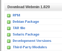 Webmin Debian