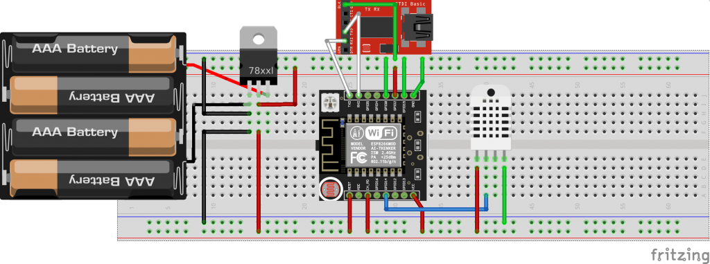DHT22 with ESP8266