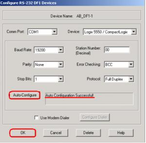 RSLinx DF1 Configuration