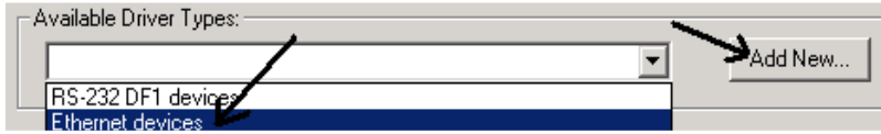 RSLinx Ethernet Driver