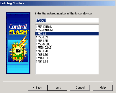 ControlFlash Catalog Number