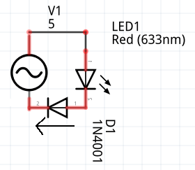 Single Diode Schematic
