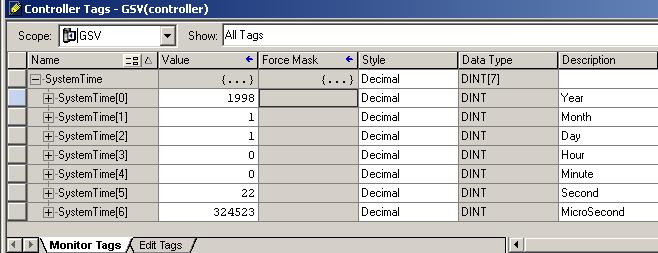 Controllogix Gsv Command Wallclocktime System Time