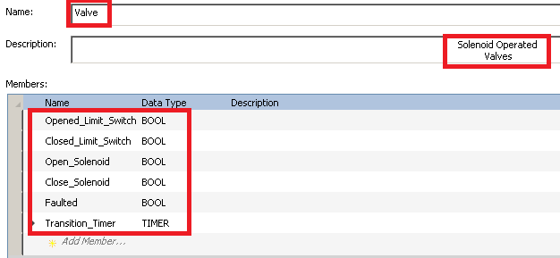 Valve Data Type