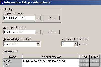 Information Setup