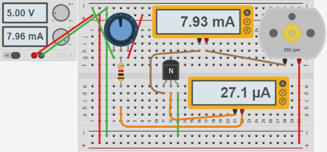 Transistor Half Power