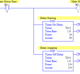 Delay Outputs on and off