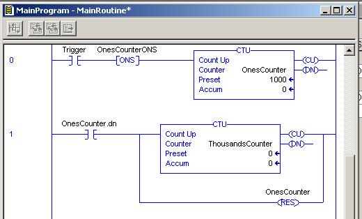 Cascading ControlLogix Counters