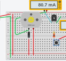transistor controlled motor